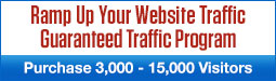 Ramp Up Your Website Traffic - Purchase 3,000 – 15,000 visitors per quarter